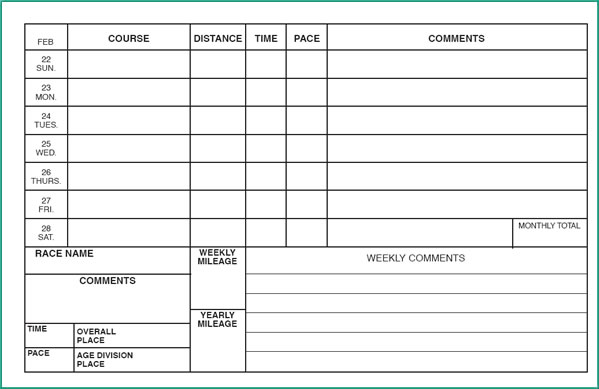 Training Log 2018 – Training Log Template